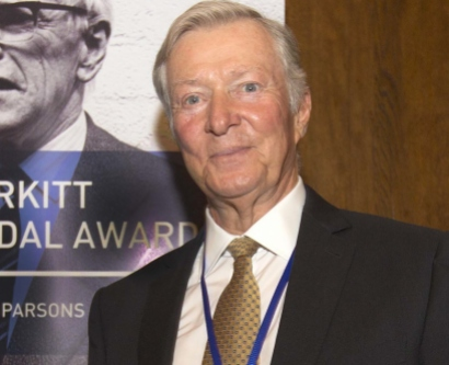 UCSF's John Ziegler at the 2014 Burkitt Medal ceremony