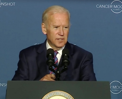 Joe Biden speaks at the Cancer Moonshot Summit in Washington, D.C.