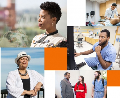 collage of African-American members of the UCSF community