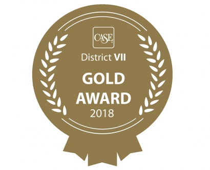 Gold CASE award medallion illustration