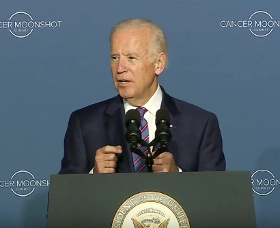 Vice President Joe Biden speaks at a White House press conference