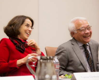 National Science Foundation Director France Córdova and UCSF Vice Chancellor for Science Policy and Strategy Keith Yamamoto