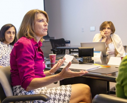 3 UCSF female faculty members participate in a discussion at Faculty Development Day