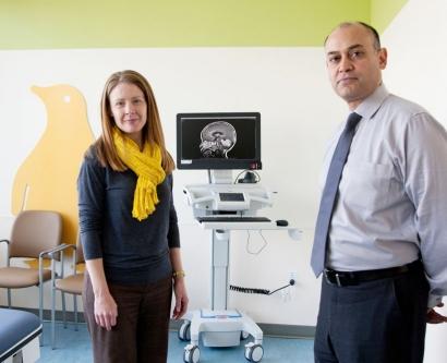 Drs. Heather Fullerton and Nalin Gupta of the UCSF Pediatric Brain Center