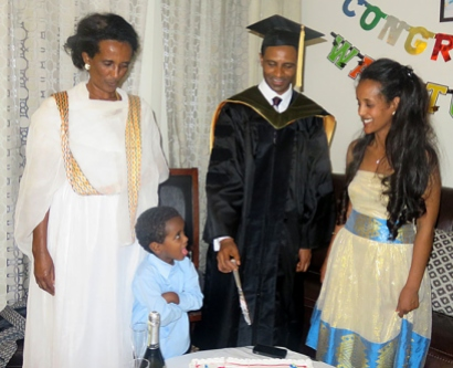 Getahun Weldeselassie and family