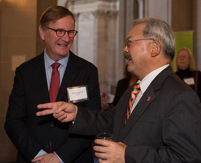 UCSF Chancellor Sam Hawgood and San Francisco Mayor Ed Lee