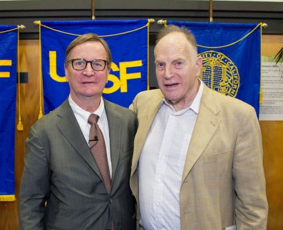 Sam Hawgood and Jeffrey Pearl at UCSF Founders Day 2014