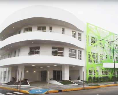 exterior shot of the Jaime Sepulveda-Amor HIV Specialized Clinic in Mexico City