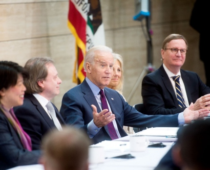 Vice President Joe Biden speaks during a panel discussion
