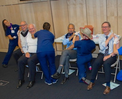 Members of the UCSF leadership team get vaccinated