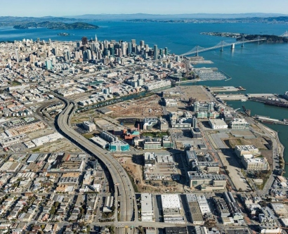 aerial view of UCSF Mission Bay