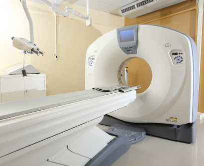 A stock images shows an MRI machine