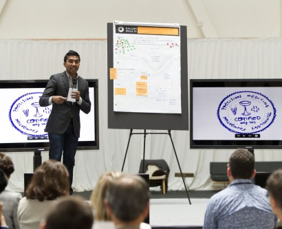 Ideas are pitched during OME 2013