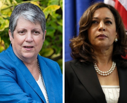 UC President Janet Napolitano and California Attorney General Kamala Harris