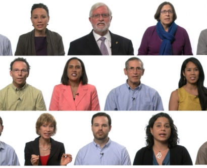 Collage of UCSF faculty who participated in the Mission in a Minute videos