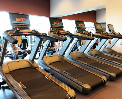 new treadmills in the Bakar Fitness Center