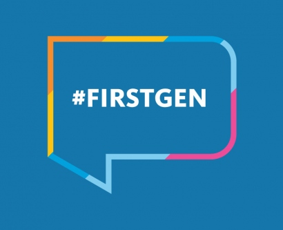 illustration that says #FirstGen