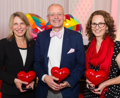 The 2015 Heroes & Hearts Award recipients are, from left, Diane Havlir, MD, Edgar Pierluissi, MD, and Maya Vasquez, RN.