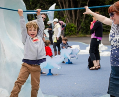Riley enjoys himself at UCSF Day at the San Francisco Zoo, an event in which 300 UCSF staff and families attended