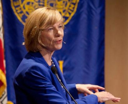 Chancellor Susan Desmond-Hellmann delivers the 2013 State of the University address