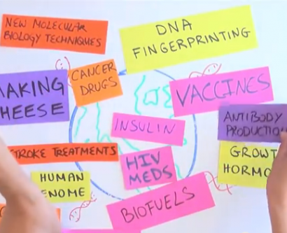 Screenshot from UCSF science video that won a national contest