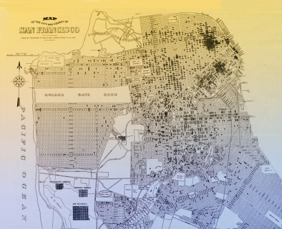 San Francisco map of tuberculosis cases, 1912-1914