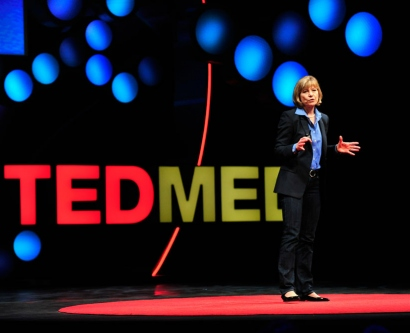 UCSF Chancellor Susan Desmond-Hellmann gives a talk at TEDMED in April 2013.