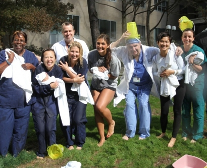 UCSF Neurology ICU team after their ice bucket challenges