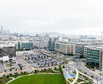 aerial view of UCSF Mission Bay campus
