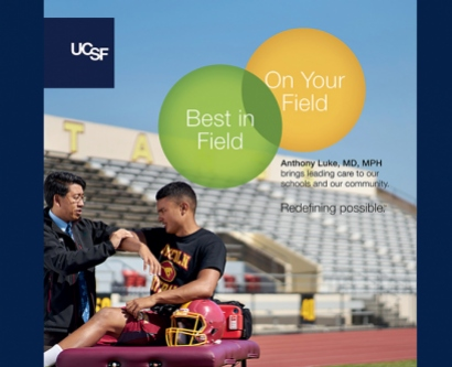 A poster showing the new One UCSF campaign
