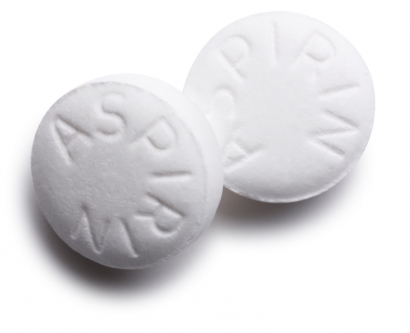 Stock image of asprin pills