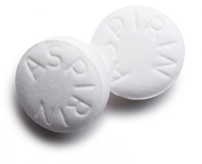 Stock image of asprin pills