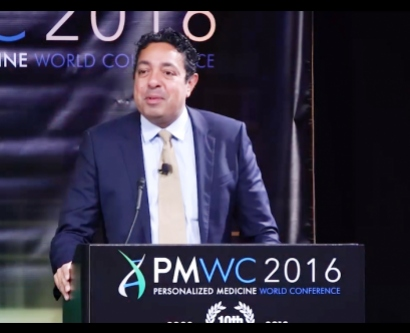 Atul Butte speaks at the 2016 PMWC conference