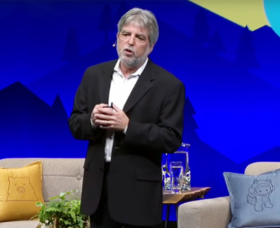 Jeffrey Bluestone speaks during the 2016 Dreamforce conference