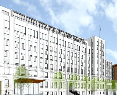 architectural rendering of renovated UCSF Clinical Sciences Building at Parnassus