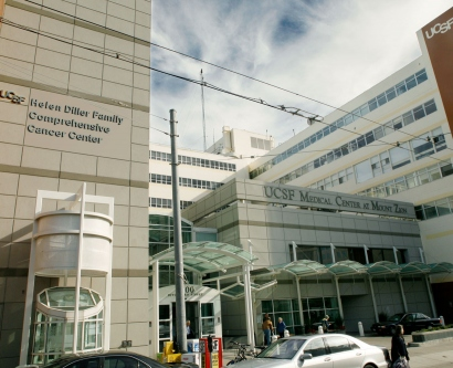 exterior of UCSF Helen Diller Comprehensive Cancer Center in San Francisco