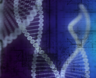 stock illustration of DNA strands