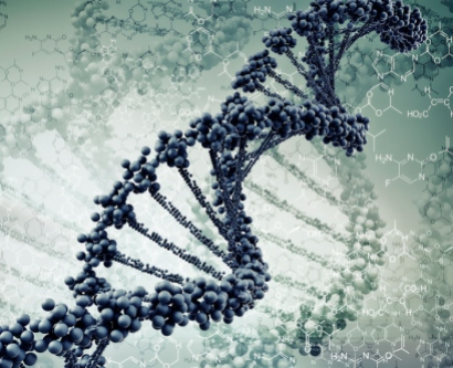 digital illustration of DNA strands