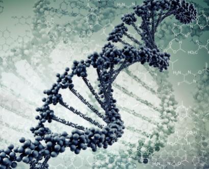 digital illustration of DNA strands