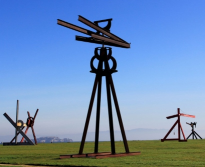 "Mark di Suvero's ""Dreamcatcher"" sculpture at San Francisco's Crissy Field in 2013"