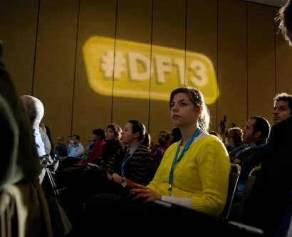 Attendees listen to UCSF experts at Dreamforce 2013.