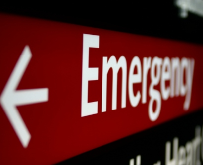 Photo of an emergency sign