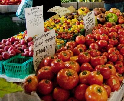 fresh produce at a farmer's market