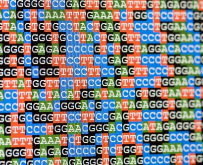stock illustration of DNA sequencing
