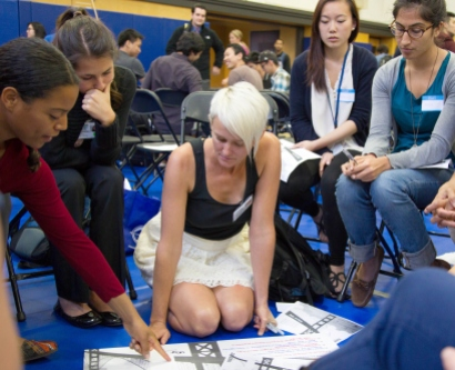 First-year students participate in interprofessional education day at UCSF..