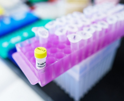 stock imagery of lab samples in vials