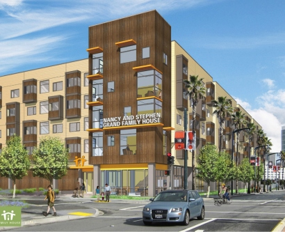 Architectural rendering of planned Family House at Mission Bay