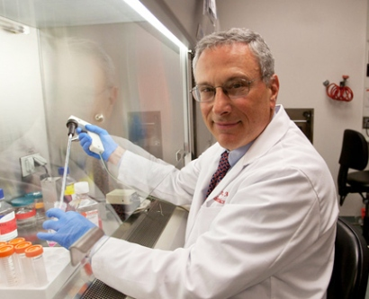 Robert Nussbaum, MD, in his lab