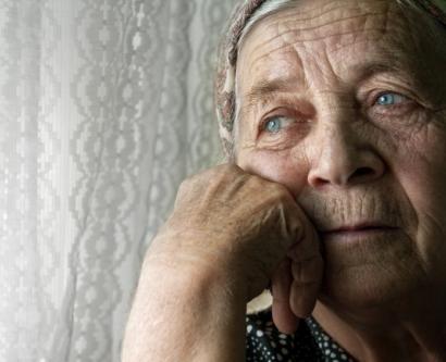 Stock photo of depressed woman