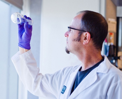UCSF scientist in the lab